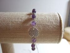 Handmade Silver Plated Amethyst Costume Bracelets