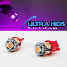 PINK/PURPLE 2PCS T10 501 W5W 5 SMD LED BULBS 5050 SIDELIGHT INTERIOR PLATE