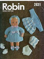 Vintage Robin 2631 TINY TEARS/bébé reborn poupée Double Knitting Pattern