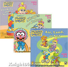MUPPET BABIES 3x Pack PC Kids Software Ages 2-5 NEW