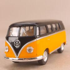 1962 Volkswagen Classic T1 Micro Bus Kombi Yellow Black 1:32 13cm Die Cast VW