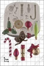 Silicona Molde De Navidad Mini Decoraciones | uso alimentario FPC Sugarcraft Envío Reino Unido!