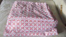 "Cynthia Rowley Twin/Single Bed Sheet Set XL Orange/White 12"" Deep Colorful"