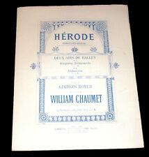 allegretto scherzando air de ballet Hérode partition piano 1886 William Chaumet