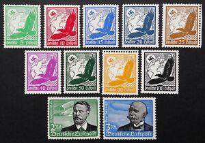 DR/German Empire/Third Reich 1934 Mi № 529-539 (MNH/MVLH) CV (Michel 2015) €100