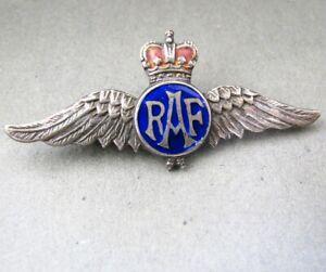 SIlver and Enamel RAF Sweetheart Brooch