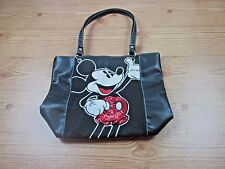 Disney Mickey Mouse Black Tote/Bag/Purse with Red Sequins