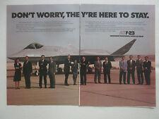 4/1991 PUB NORTHROP MCDONNELL DOUGLAS YF-23 F-23 STEALTH ATF FIGHTER ORIGINAL AD