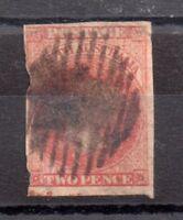 South Australia 1855 2d carmine imperf SG2 used WS8810