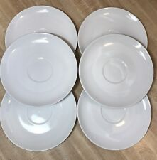 "PMR Bavaria Jeager & Co Germany White Saucer, 6-3/8"" Set of 6 (A6)"