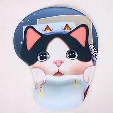 Cat Comfort Wrist Gel Rest Support Mat Mouse Mice Pad Mat Computer PC Laptop New