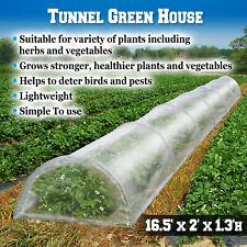 16.5X2X1.3'H Mini Long Tunnel Greenhouse Plant Gardening Hoops Flower Hot House