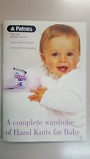 Patons Pattern Book #5000 Big Baby 3 & 4 Ply 37 Projects Prem to 24 months