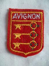 Blason AVIGNON clé ronde 53X40 mm écusson Patch insigne tissu ancien FRANCE