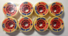 Atom Trak Atak Speed/Derby skate wheels 59mm 97A offwhite with red hubs 8 new