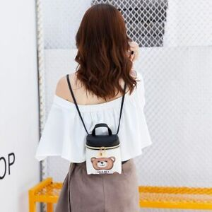Women Fashion Mini Bear Mobile Phone Bag Casual Cartoon Messenger Shoulder Bags