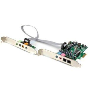 StarTech PEXSOUND7CH 7.1 Channel Sound Card - PCI Express, 24-bit, 192KHz