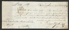 BILL OF EXCHANGE DIOGO HIPKINS BIRMINGHAM ENGLAND EMBOSSED BANK CHECK 1791