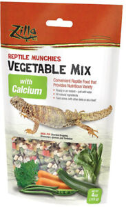 ZILLA - Reptile Munchies Vegetable Mix with Calcium - 4 oz. (113 g)