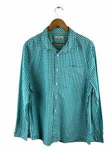 Country Road Button Up Shirt Mens Size XL Green Check Long Sleeve Pockets Logo