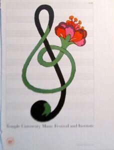 Milton Glaser Reprint  for Temple University Music Festival   16X11   pp