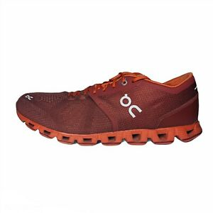 ON CLOUD X Mens Swiss Engineering Running Shoes Sienna Rust Red 9M Excellent