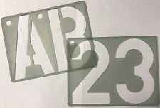 ALPHABET LETTERING STENCIL SIGN 150 mm HIGH A TO Z NUMBERS 0 TO 9