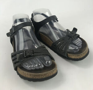 Birkenstock 240 Sandals Size 37 Black Straps US 6.5 SC4