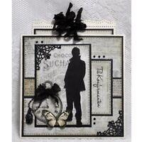 Stanzschablone Junge Mann Ansicht Weihnachts Hochzeit Geburtstag Karte Album DIY