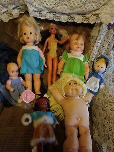 Rare VTG doll lot 69 talks Mattel Horseman 73 tiffany c patch water baby BbSue++