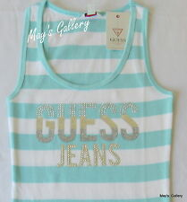 GUESS Jeans studded Glitter Tank T-shirt Tee T shirt  Top Blouse white  NWT XS