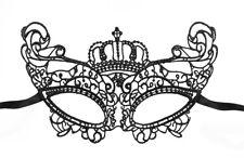 schwarze königliche Augenmaske Spitzen Gothic Venezianisch Maske Gesicht Karneva