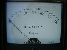 Simpson model 1327 0-300 DC amps with shunt