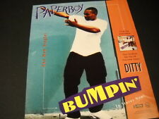 PAPERBOY is BUMPIN' after DITTY 1993 PROMO POSTER AD mint condition