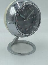 Fine Vintage Design Wecker Garant Space Age Chrom Tischuhr Mid Century Uhr