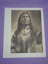 "Edward Curtis Native American Indian Vintage Photo Print ""NEW CHEST - PIEGAN"""