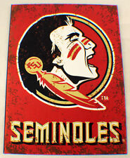 Florida State Seminoles Distressed Metal Sign Wall Plaque New #83692