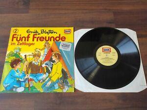 Fünf Freunde 2 Im Zeltlager Vinyl LP Schallplatte Hörspiel Enid Blyton Europa