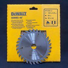 Dewalt DT1322 Series 40 140mm x 20mm 30T TCT Circular Saw Blade Wood & Laminate