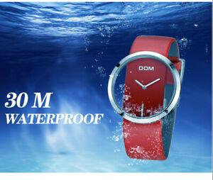 Elegante Quarz Armbanduhr Frauen Luxus Mode Casual 3 ATM Echtes Leder mit Box