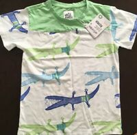 Cute Gator Alligator Crocodile Cotton Toddler Baby Kid T-shirt Tee 6mo Thru 7t
