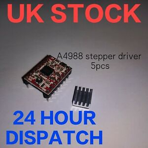 5pcs A4988 stepper driver and heatsink for Reprap/diy/most 3D Printers