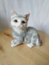 Grey/blue Cat Ornament