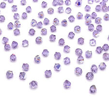 144 Swarovski 5328 Crystal XILION Bicone Beads Jewelry Making 4mm VIOLET AB