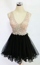 BLONDIE NITES BLACK Party Homecoming Dress 13 -$190 NWT