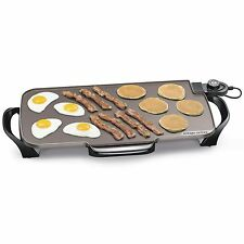 Large Electric Griddle Indoor Grill Nonstick Skillet Countertop Cooking Ceramic