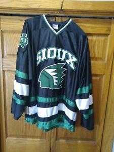 North Dakota Fighting Sioux Hockey Jersey K1 Geometric Logo Gemini Size XL