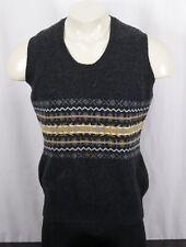 BARBOUR Fairisle Tank Wool Sweater Vest -Charcoal Gray Multi -Women's 18