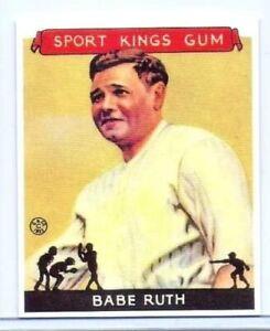Bébé Ruth 1933 Goudey Sport Kings Gomme Carte #2 Réédition Yankees