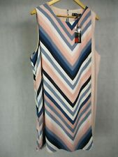 Navy Chevron Layer Dress by Principles Designed by Ben de Lisi BNWT UK 22 EUR 48